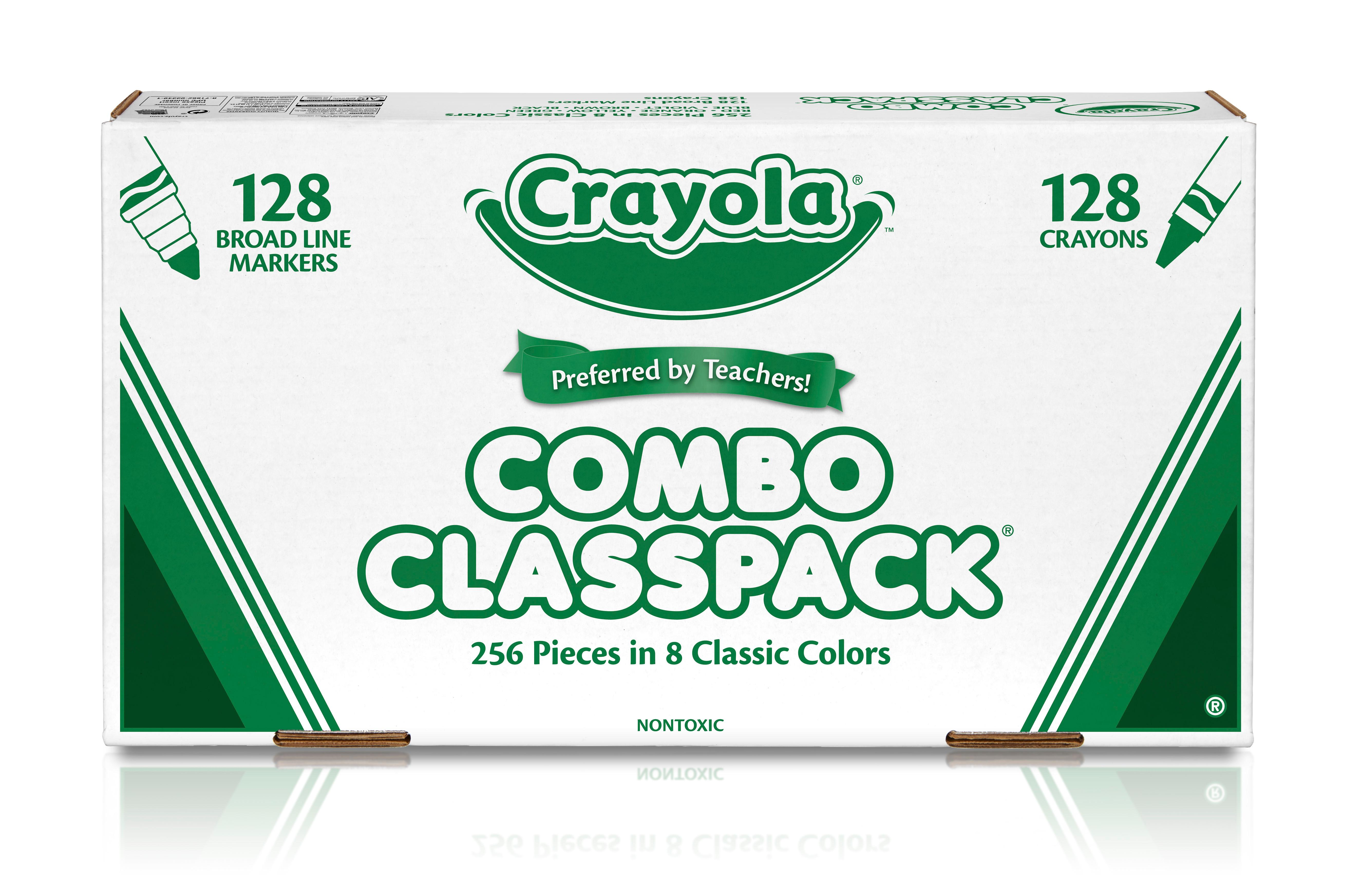 Amazon.com: Crayola Bulk Markers and Crayons, 256 Count Classpack ...