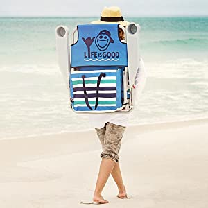 Life is Good Beach Chair - Backpack Straps