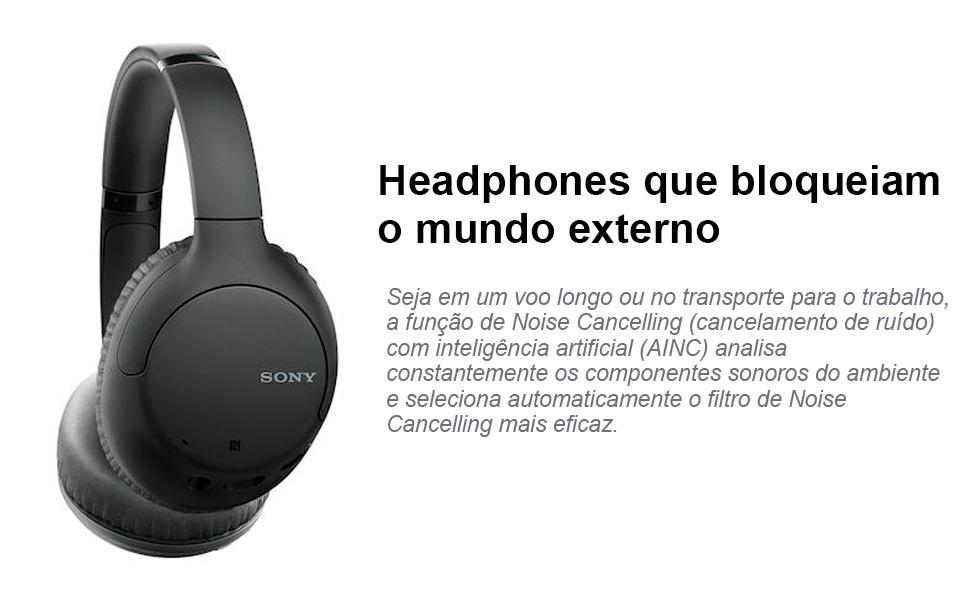 Headphone Sony WH-CH710N Azul sem fio Bluetooth com Noise
