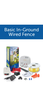 basic in-ground wired fence