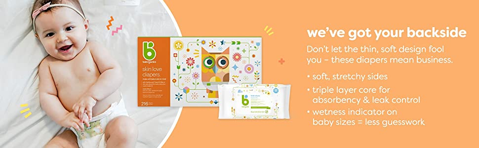 Diapers, baby diapers, natural diapers, organic diapers, babyganics diapers, newborn diapers