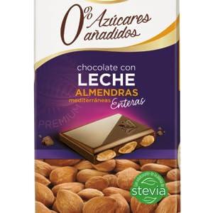 Chocolate con Leche y Almendras 0% Azúcares Añadidos. Chocolates Valor
