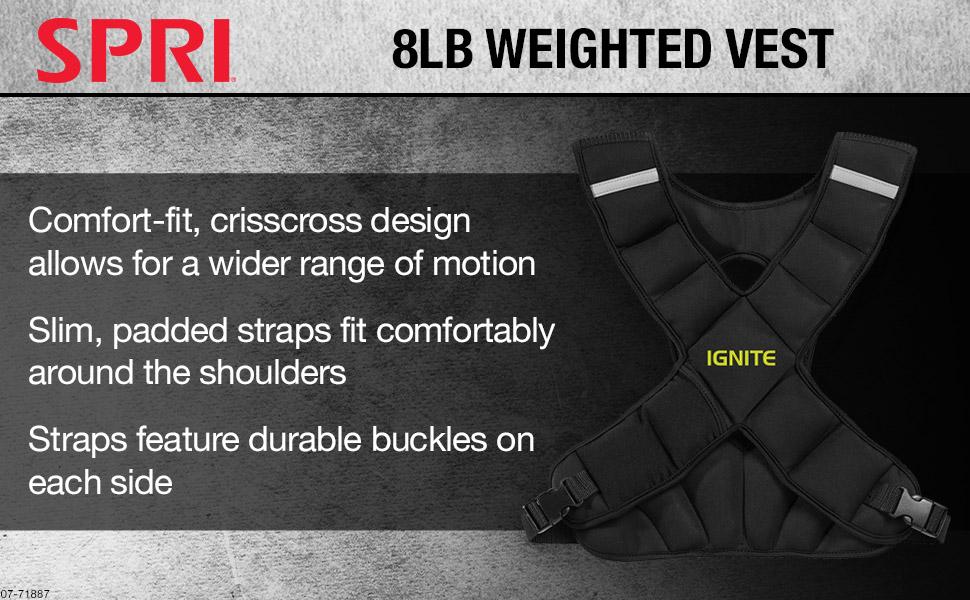 SPRI Ignite 8lb Weighted Vest