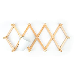 mug rack; hat rack; jewelry rack; coat rack; natural wood wall rack; collapsable wall rack