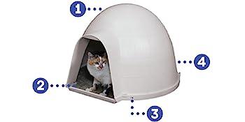 dog igloo, igloo dog house, dog proof litter box, big cat litter box, pet igloo,