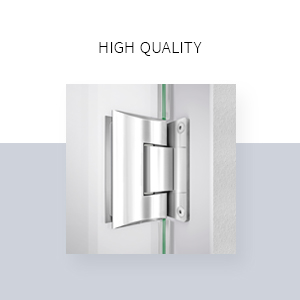 DreamLine SHDR-61607610-08 Enigma-X shower door, 56-60 in. W x 1 in. D x 76 in. H, Polished Stainless Steel