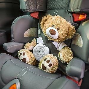 LectroFan Alpha in car seat