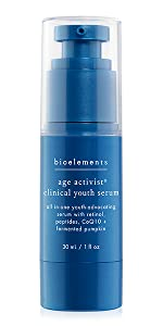 age activist clinical youth serum with retinol and coq10