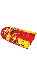AIRHEAD Big EZ Ski Training Skis Inflatable Water Ski Trainer for Beginner//120lb