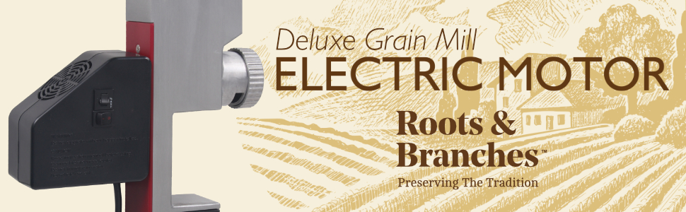 Deluxe Grain Mill Electric Motor