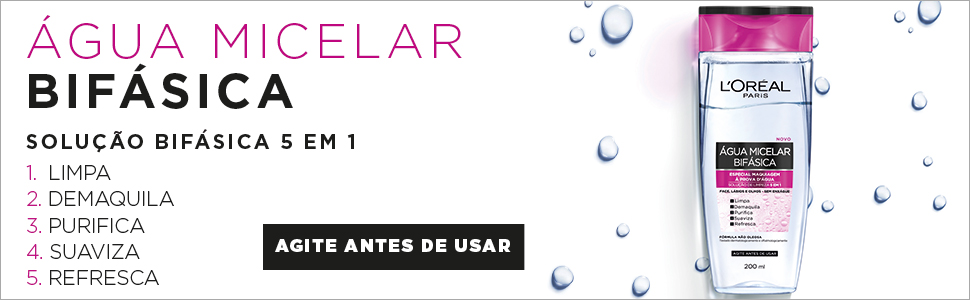 água micelar, micelar bifásica, água micelar bifásica, loreal paris