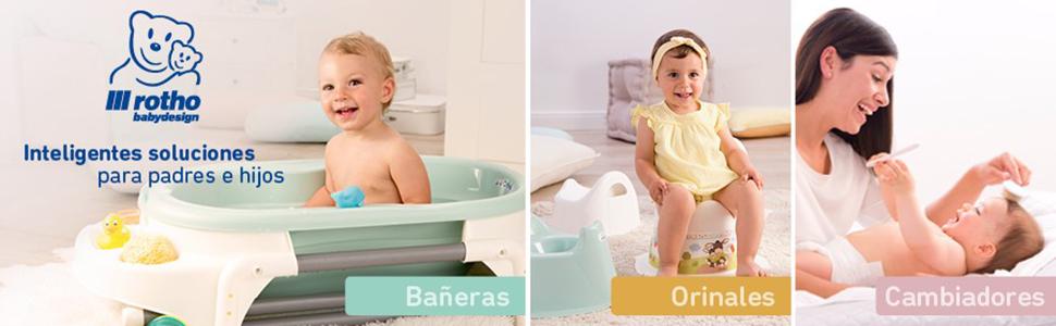 205000001 Rotho Babydesign TOP Xtra Gran Ba/ñera Ideal para 2 beb/és 0-36 Meses White con 2 alfombrillas antideslizantes y tap/ón TOP Xtra
