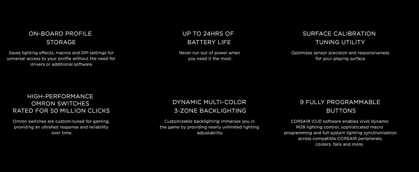 Amazon com: CORSAIR DARK CORE RGB SE Performance Wired