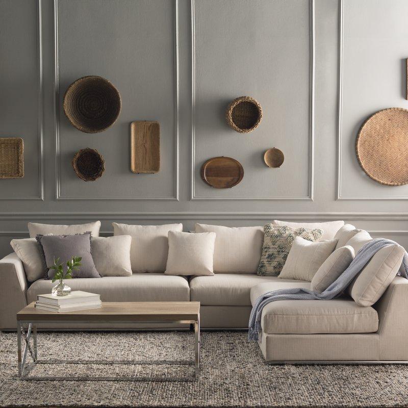 Amazon Com Urbanmod Modern Reversible Sectional Sofa Gray