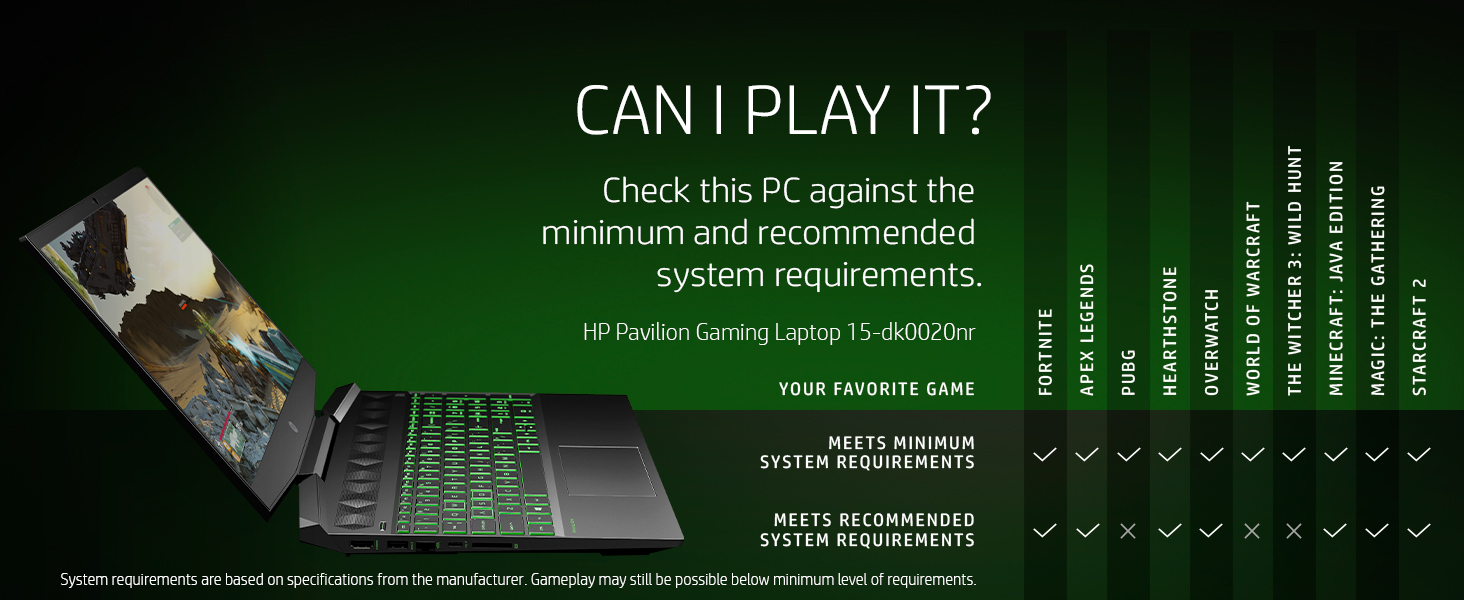 play it run it can check pc minimum recommended system requirements specifications manufacturer