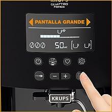 ARABICA LATTE GRIS PLATA KRUPS EA819E cafetera superautomática