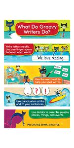 Pete The Cat Writing Strategies Mini Bulletin Board