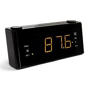 BLAUPUNKT CLR 180 BK Uhrenradio mit Wecker, AUX-IN, Stereo