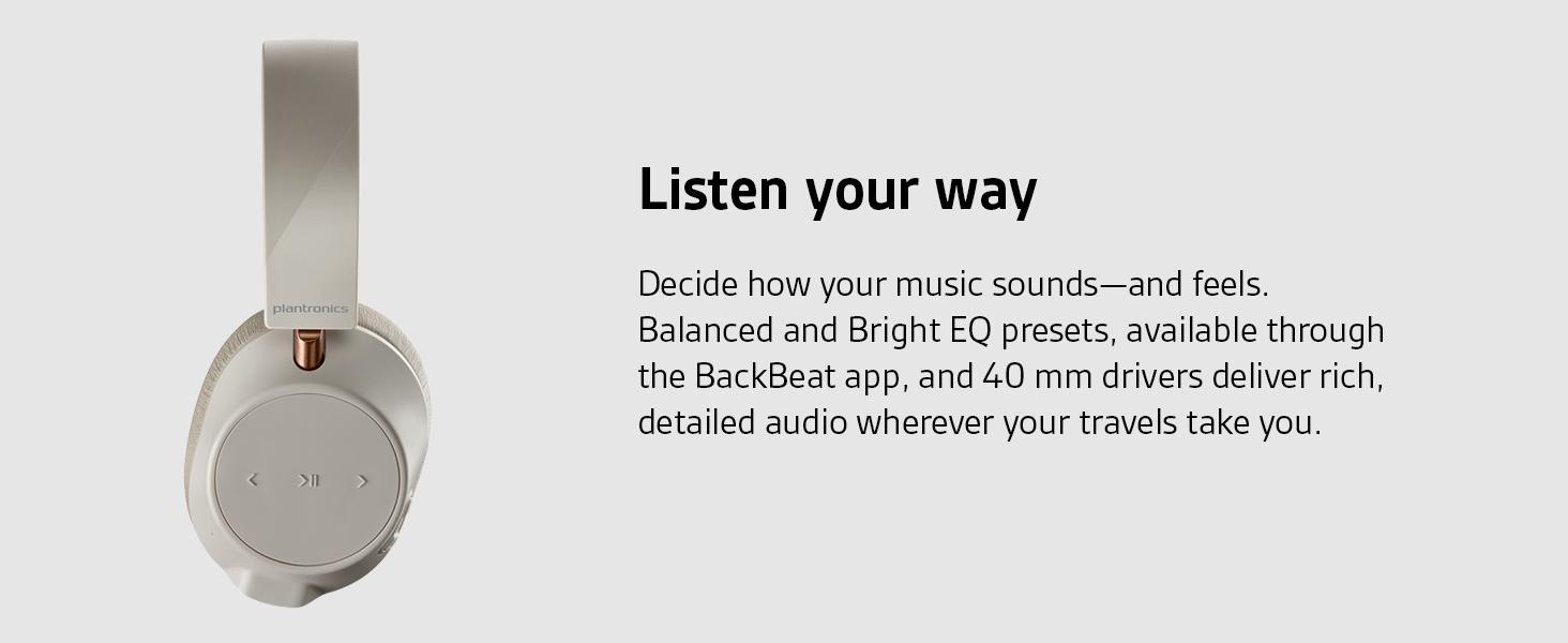 backbeat go 810, plantronics backbeat go, wireless headphones, over ear headphones