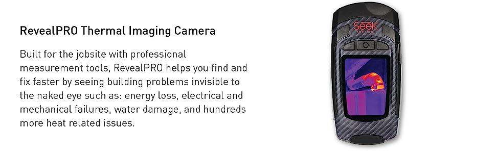 Seek Thermal, RevealPRO, thermal imaging camera, thermal imaging, hi-resolution, LED light, camera