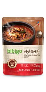Bibigo Spicy Mushroom Soup