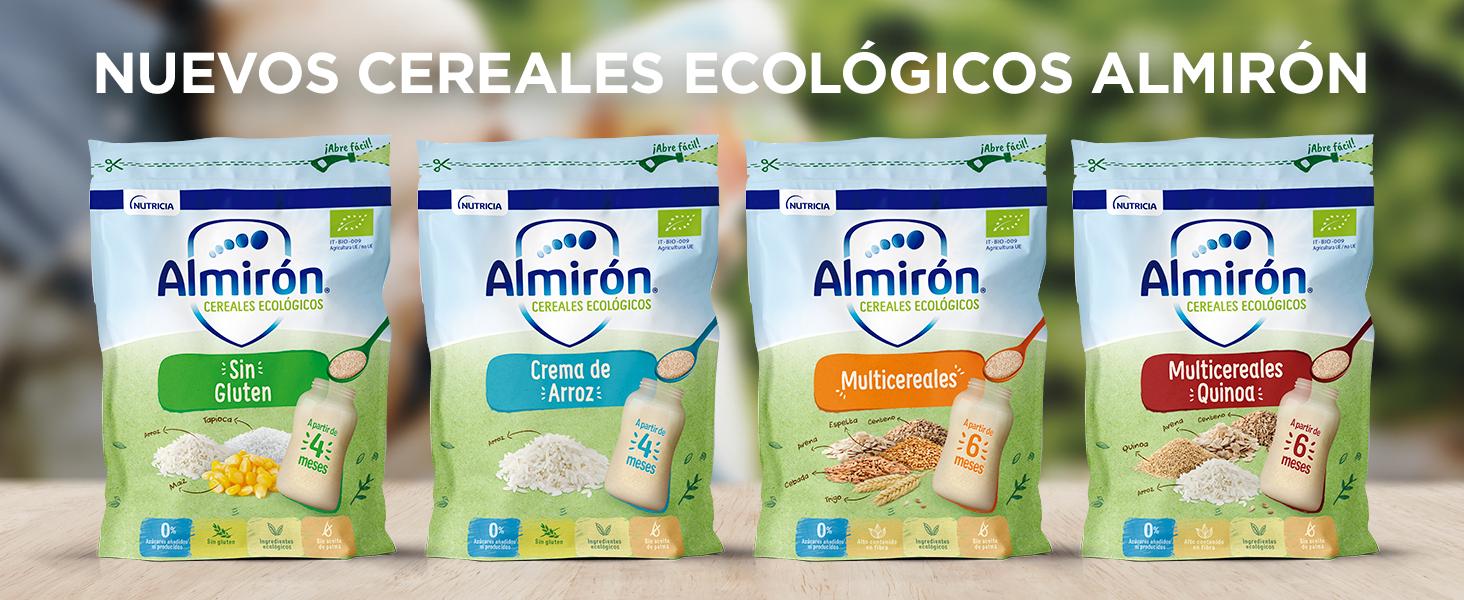 Almirón Cereales Ecológicos Sin Gluten. Pack Bolsas X200G-1.6 ...