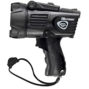 Streamlight 44902 Waypoint LED High-Performance Pistol-Grip Spotlight, black, side view.