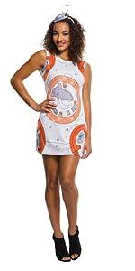 Women/'s Chewbacca Rhinestone Tank Dress