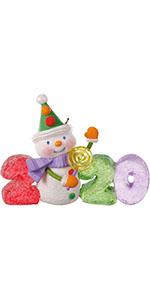 Hallmark Keepsake Christmas 2020 ornament with colorful snowman for kids, grandchildren and babies