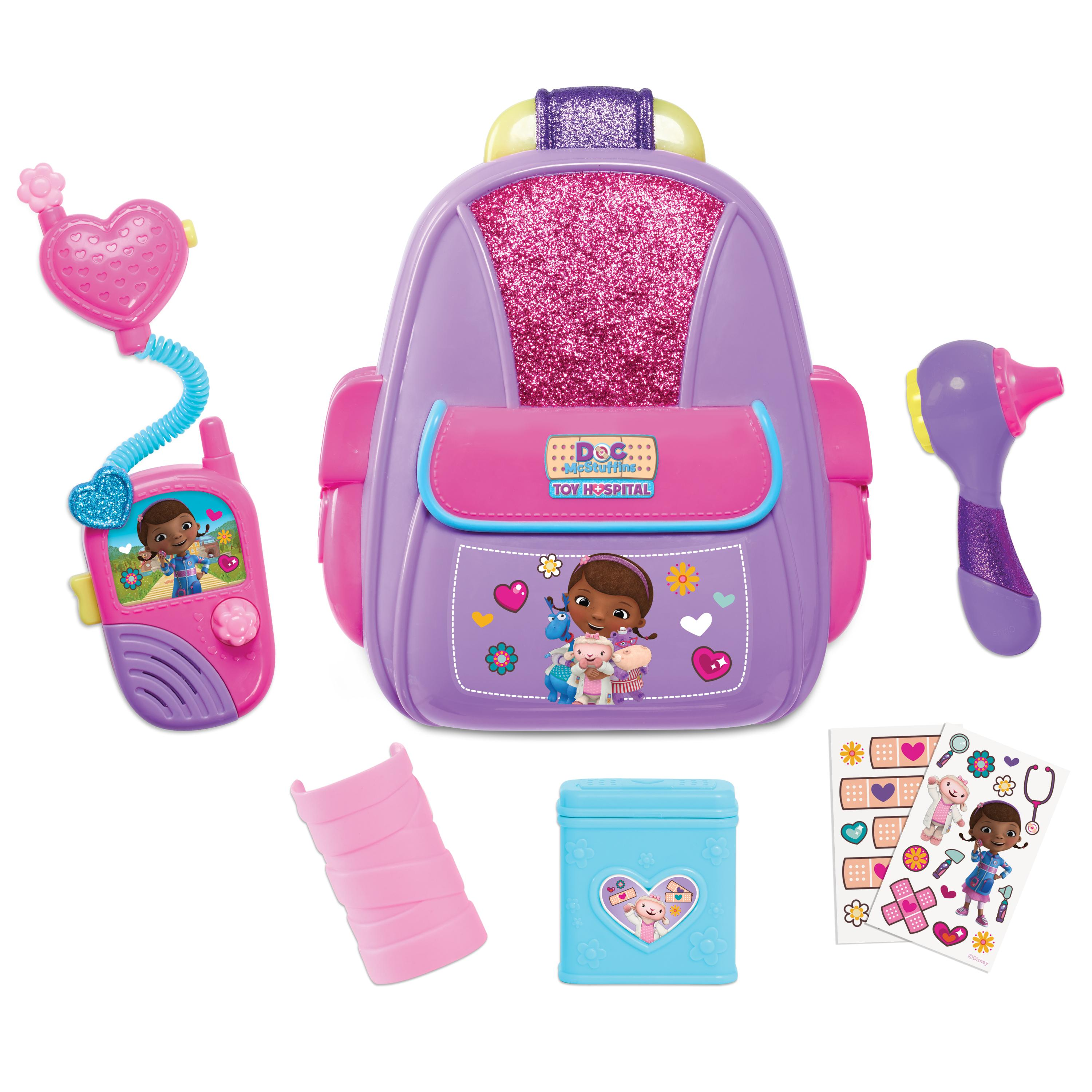 Amazon.com  Doc McStuffins 92336 First Responders Backpack Set  Toys ... 9475694cbae90