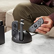 Charge up to four Joy-Con™ controllers at once