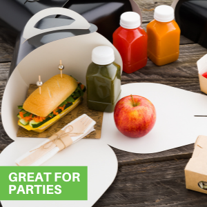 These bakery bread boxes come in different colors to easily match with your party's color scheme.