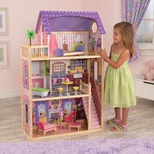 KidKraft Uptown Maison de Poupée Filles en Bois Compatible Avec Barbie Poupées