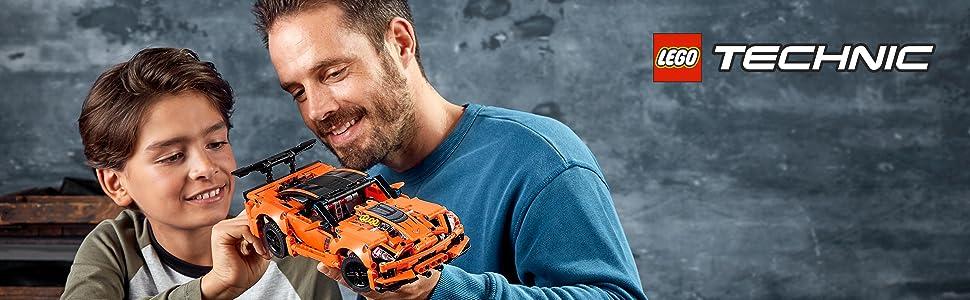 corvette-chevrolet-vehículo-deportivo-clásico-ingeniería-naranja-lego-technic-42093-avanzado-réplica