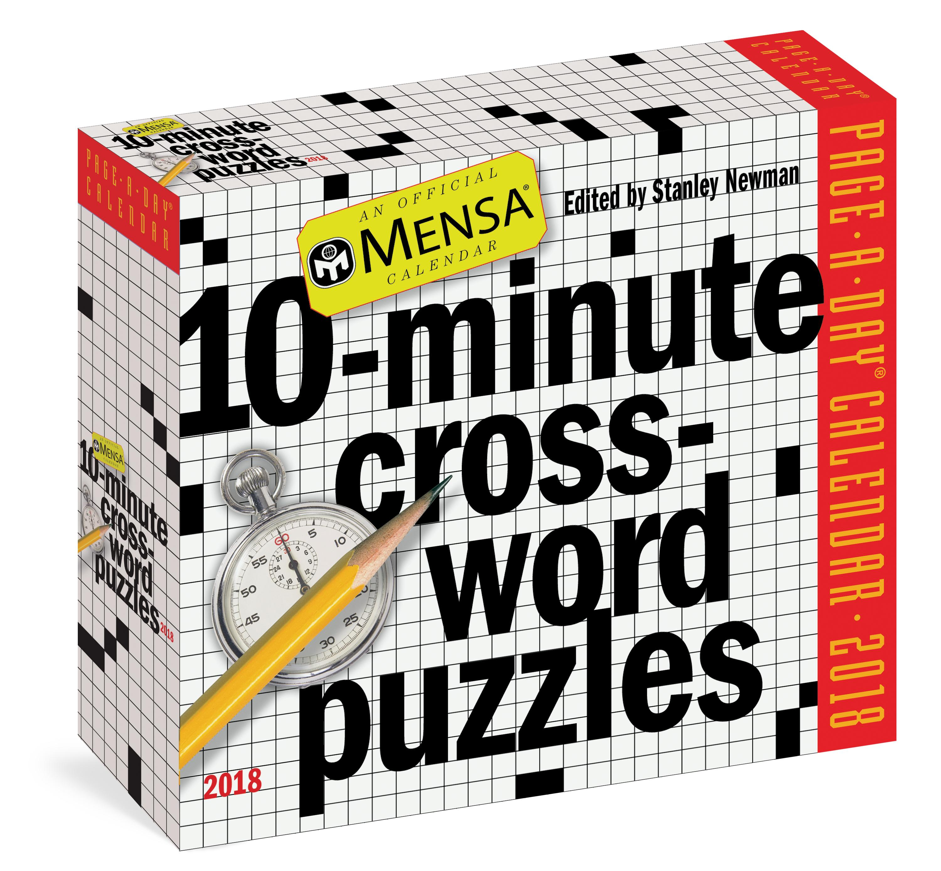 Mensa 10 Minute Crossword Puzzles Page A Day Calendar 2018 Stanley