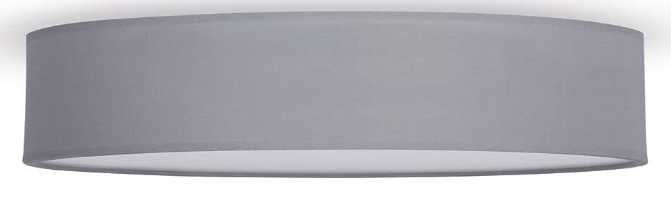 Smartwares IDE- 60037 Plafón Mia, 60 cm, Gris: Amazon.es: Iluminación