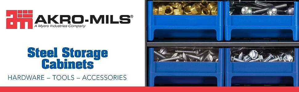 Akro-Mils Akro Mils Akro Mills acro mills steel storage bins container drawer organizer