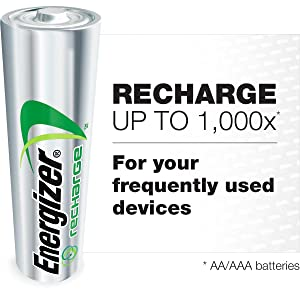 Recharge, Rechargeable, Recycled Batteries, Green, Planet Friendly, Charge, 5 year shelf life