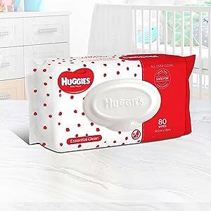Huggies Essential Clean baby wipes