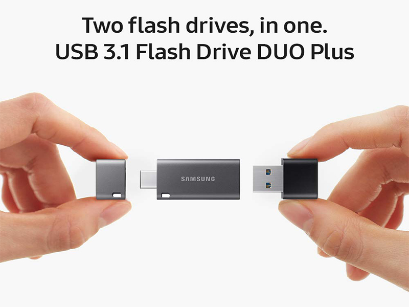 Two Flash Drive in one Samsung USB 3.1 Samsung DUO Plus