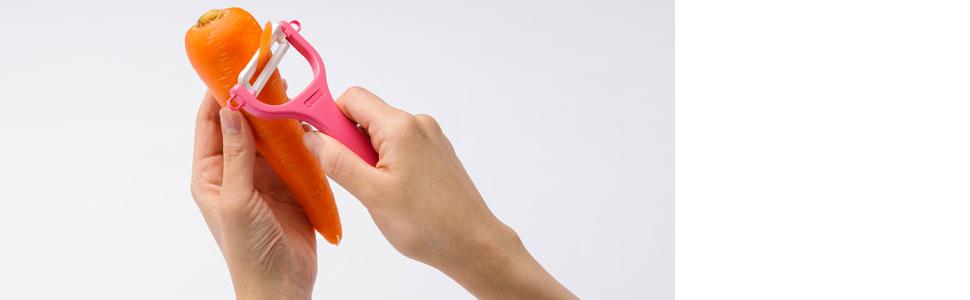 京セラ Kyocera 皮むき器 ピーラー オフホワイト 15.5cm CP-NA08OWH セラミックピーラー 熱に強い 食器洗い乾燥機OK