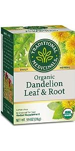 Traditional Medicinals Organic Dandelion Leaf & Root Herbal Tea