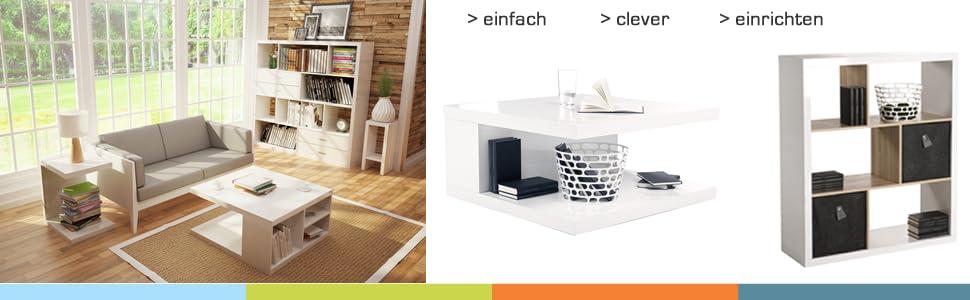 beistelltisch solina in u form in hochglanz und nicht. Black Bedroom Furniture Sets. Home Design Ideas