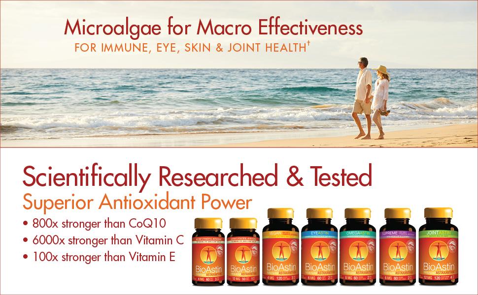 Bioastin hawaiian astaxanthin antioxidant nutrex hawaii joint eye skin health supplement vitamin