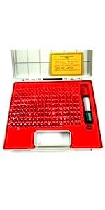Class ZZ 185 Piece HHIP Gage Pin Gauge Set 1.30-4.98 mm