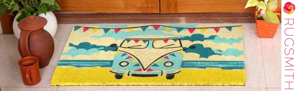 doormat;coir doormat;outdoor;indoor;natural doormat;funny;fun;rubber;rubber doormat;hello;goodbye;