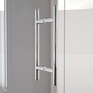 Coastal Shower Doors Hc36il 70b C Illusion Series Frameless Shower Door And Inline Panel With C Pull Handle In Clear Glass 36 X 70 Chrome