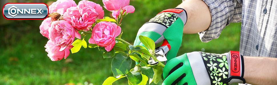 Rosenschere Rebschere Pflanzenschere Baumschere Connex Amboss-Gartenschere 205 mm FLOR70355