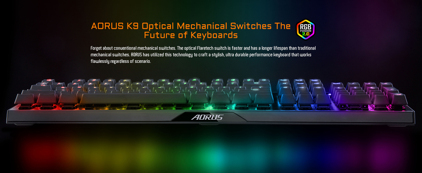 AORUS K9 Optical Mechanical switches