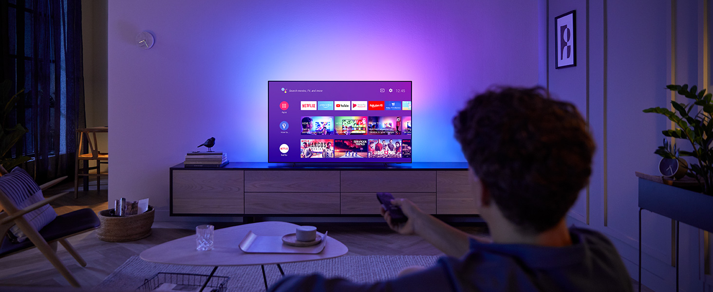 Philips Ambilight 65OLED804 164 cm (65 Zoll) Oled TV (4K